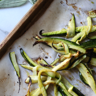 In The Kitchen: Super Easy Roasted Zucchini Strips