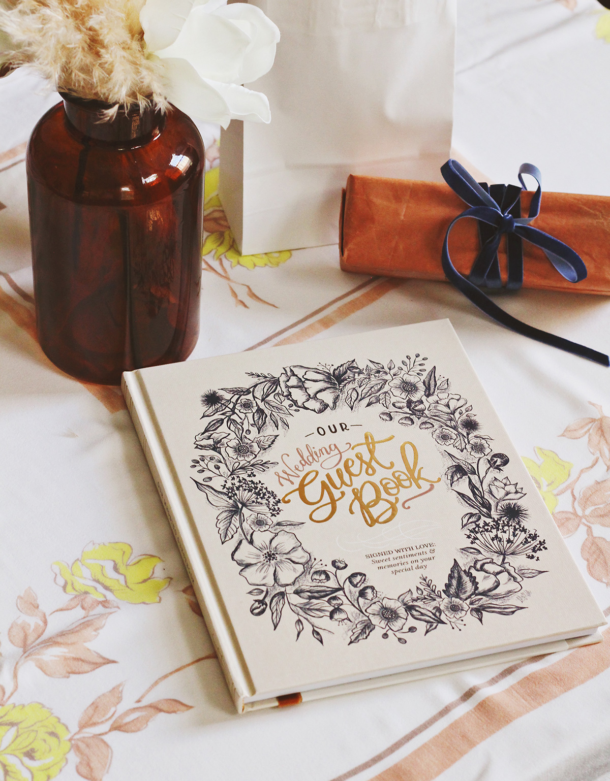 The Lily & Val Wedding Guestbook is a sentimental take on the traditional guestbook.