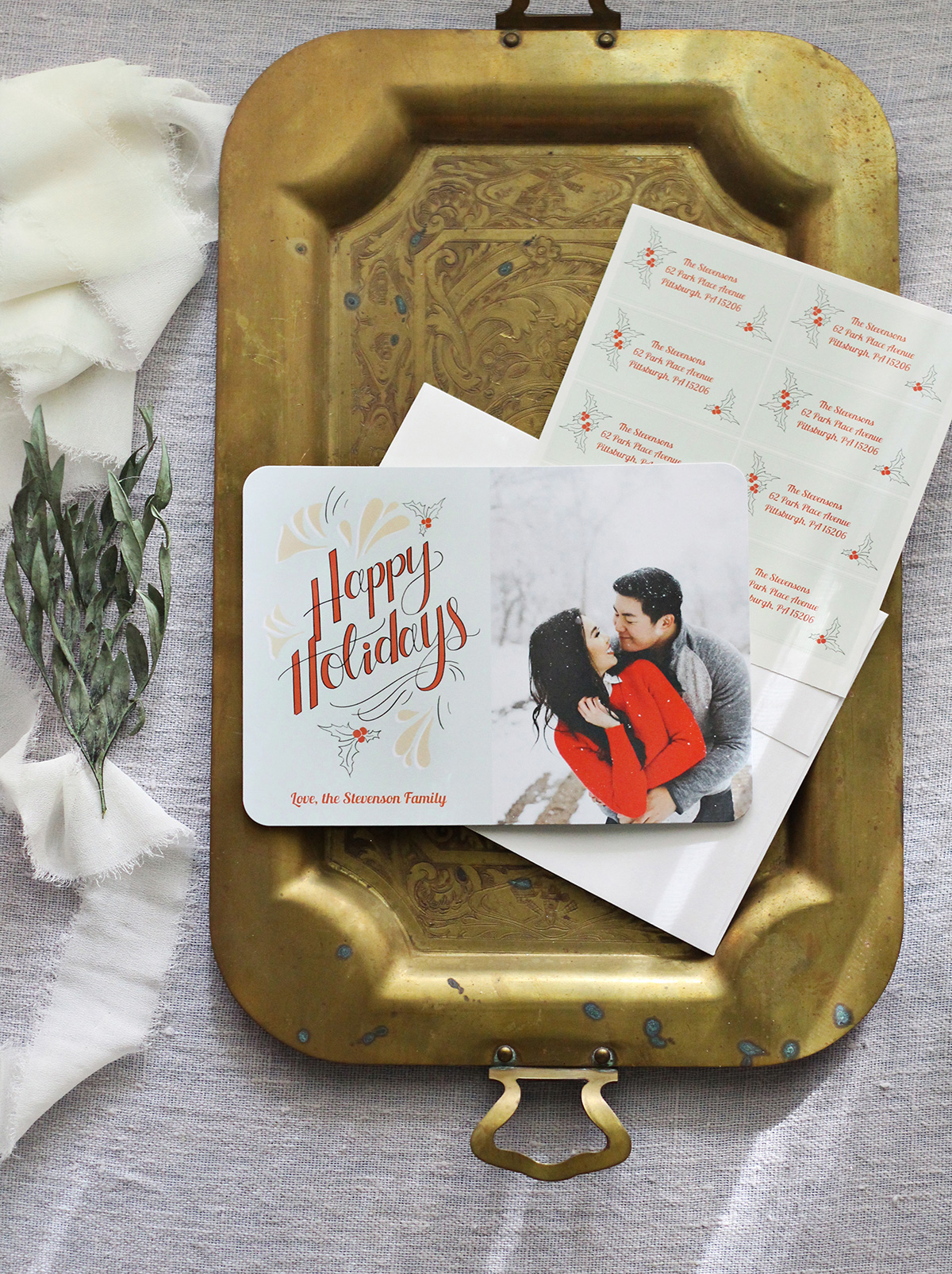Lily & Val for Mixbook Holiday Photo Cards