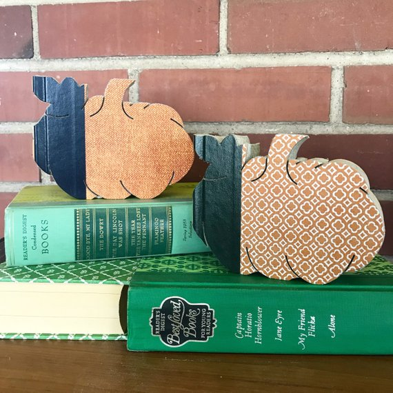 Custom Vintage book Pumpkins