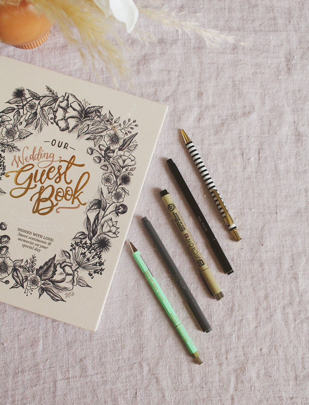 The Best Pens To Use In Your L&V Wedding Guestbook
