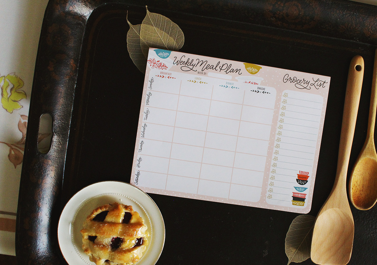 Organize your Weekly Meals with These Cute & Functional Meal Planner Pads