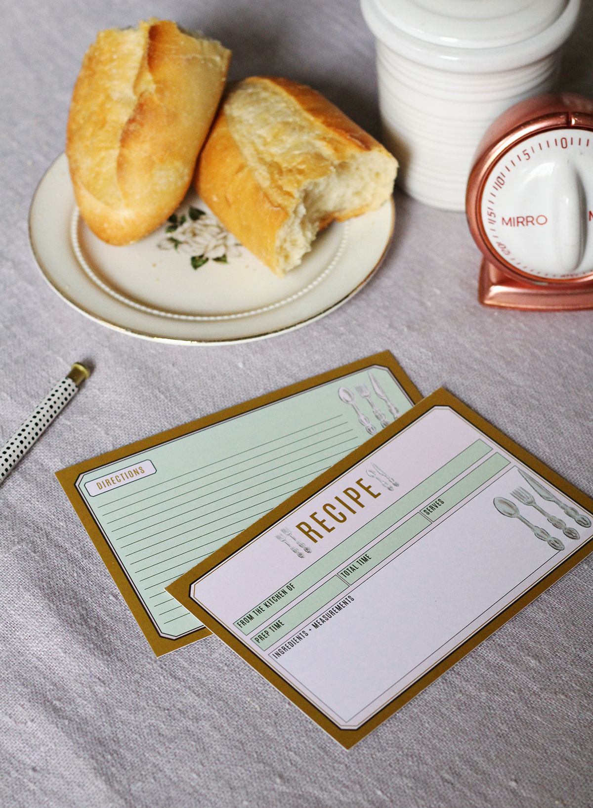 Make your recipes look cute with these adorable recipe cards
