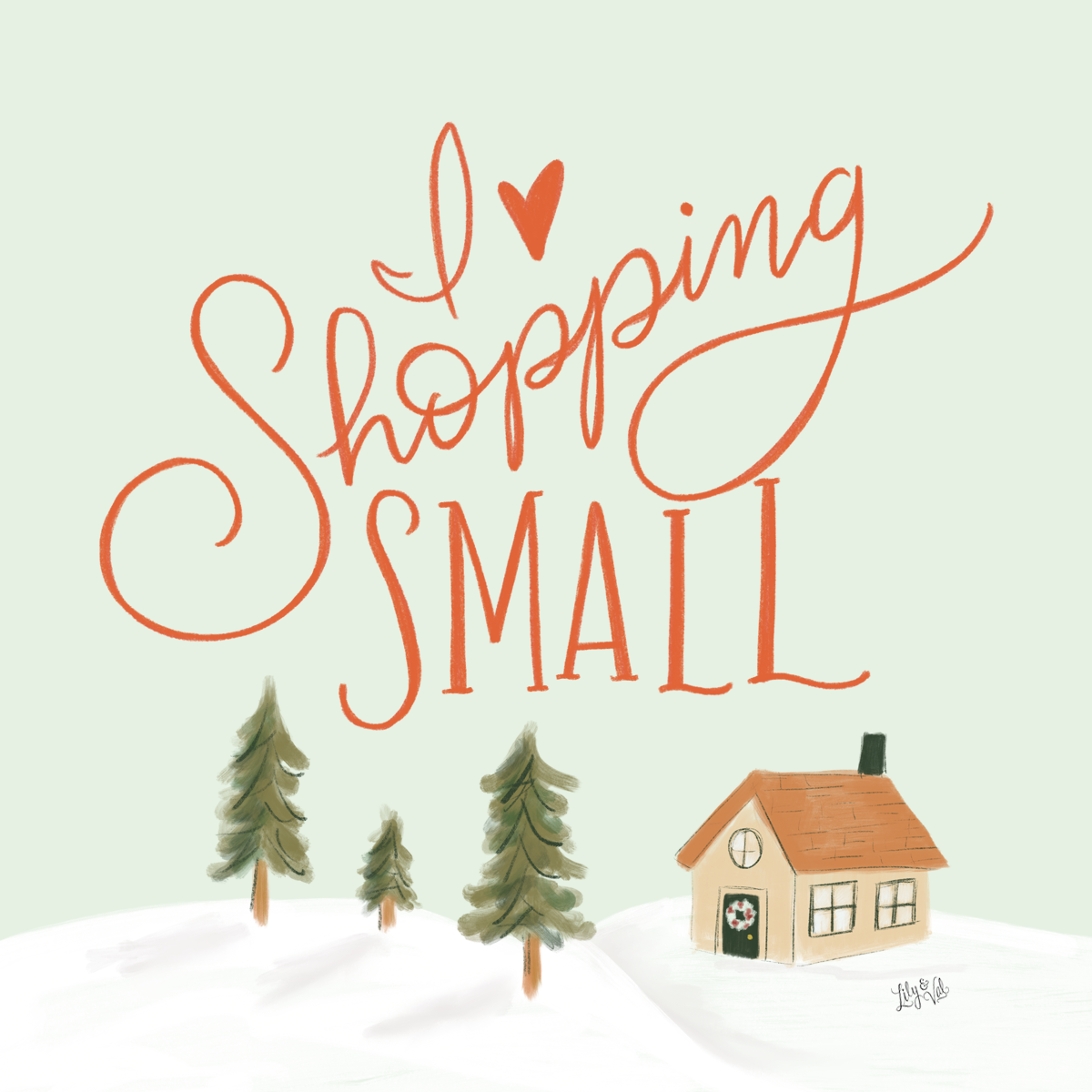Free Hand-Drawn Graphic to share the Shop Small Love on Small Business Saturday