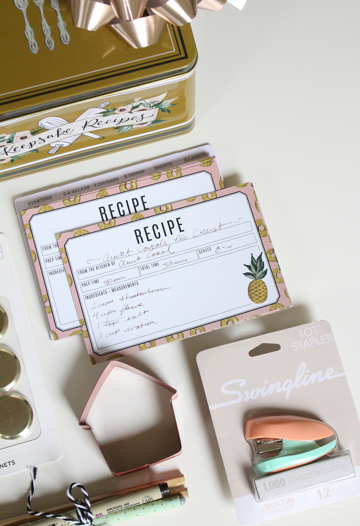 Recipe Tin Set Idea for the Holidays