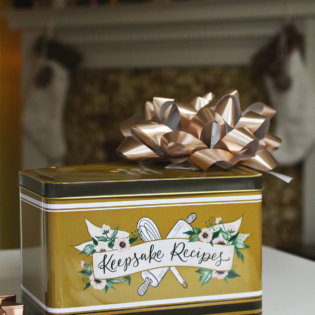 Holiday Recipe Tin Gift Idea
