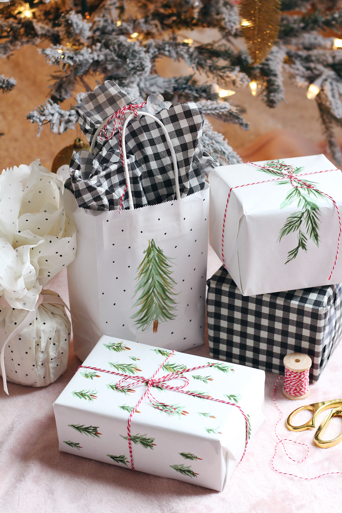 Simple DIY Holiday Gift Wrapping Idea