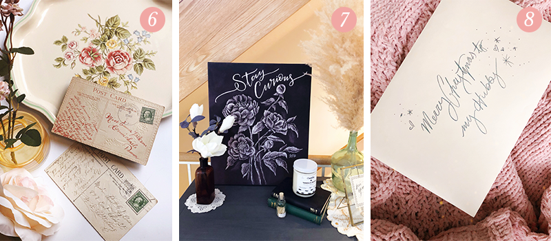 Lily & Val Presents: Pretty Ordinary Friday #101 with vintage postcards, entryway refreshes and beautiful scripted gifts
