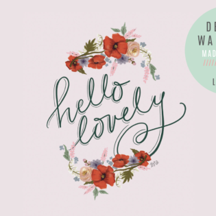 "February's ""Hello Lovely"" FREE Desktop Download"