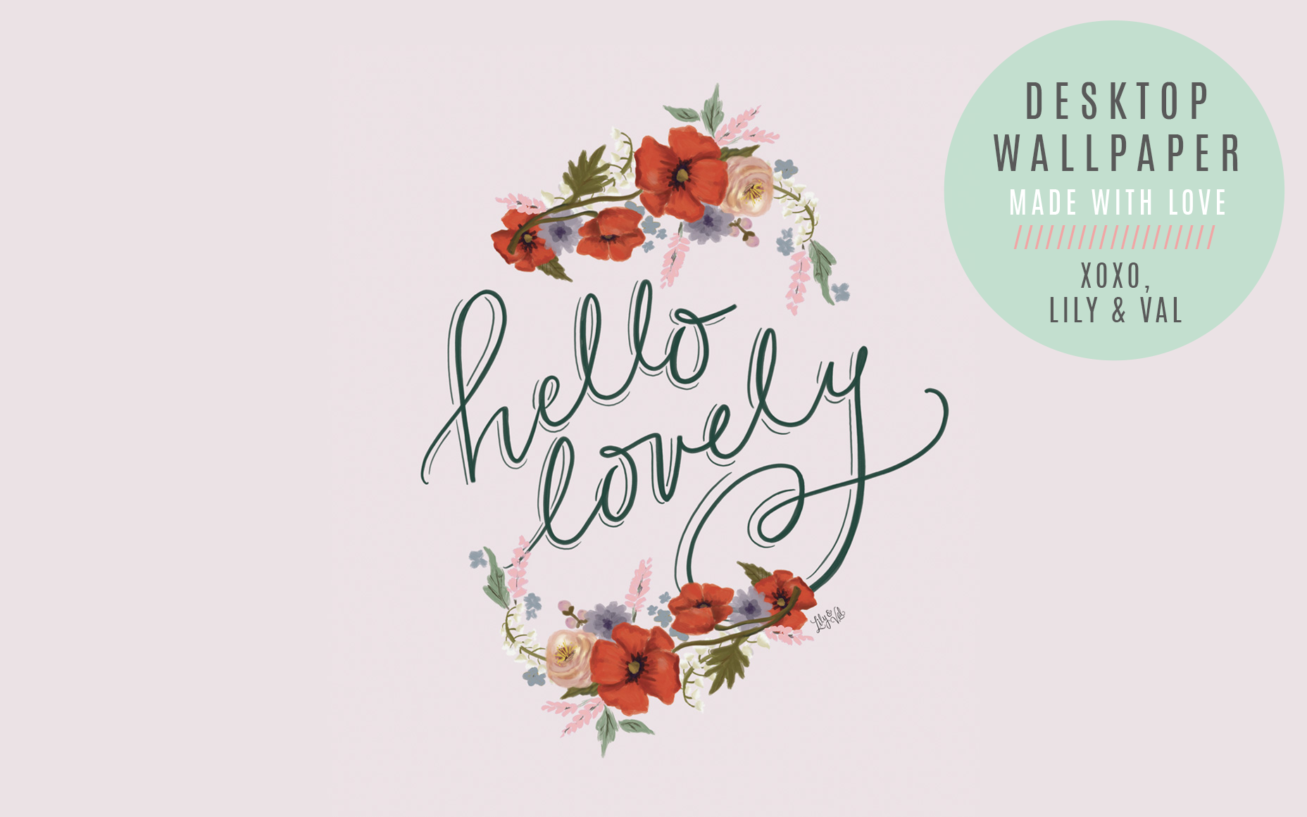 Free Pretty desktop wallpaper for Valentine's Day