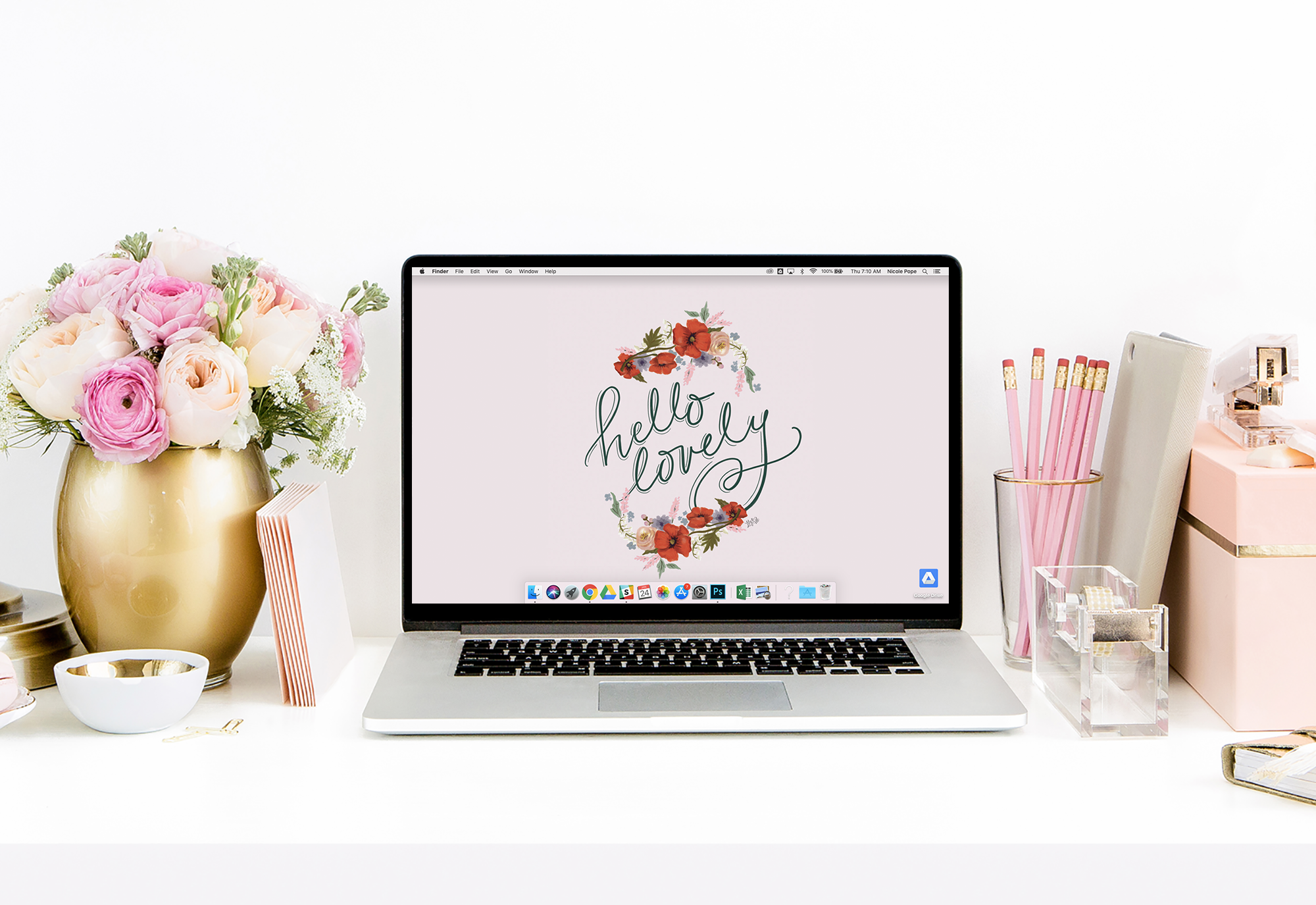 February Hello Lovely Free Desktop download