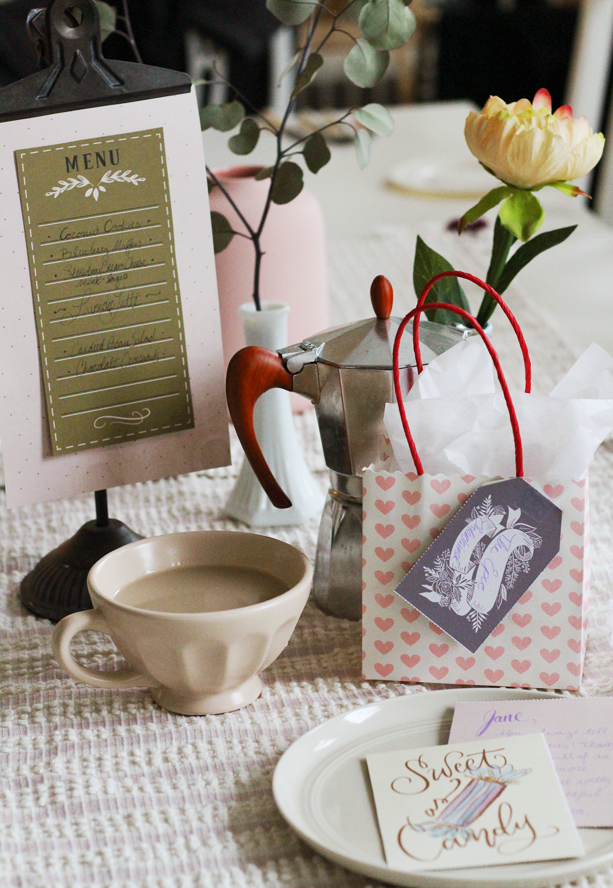Galentine's Day Get Together Tablescape Inspiration