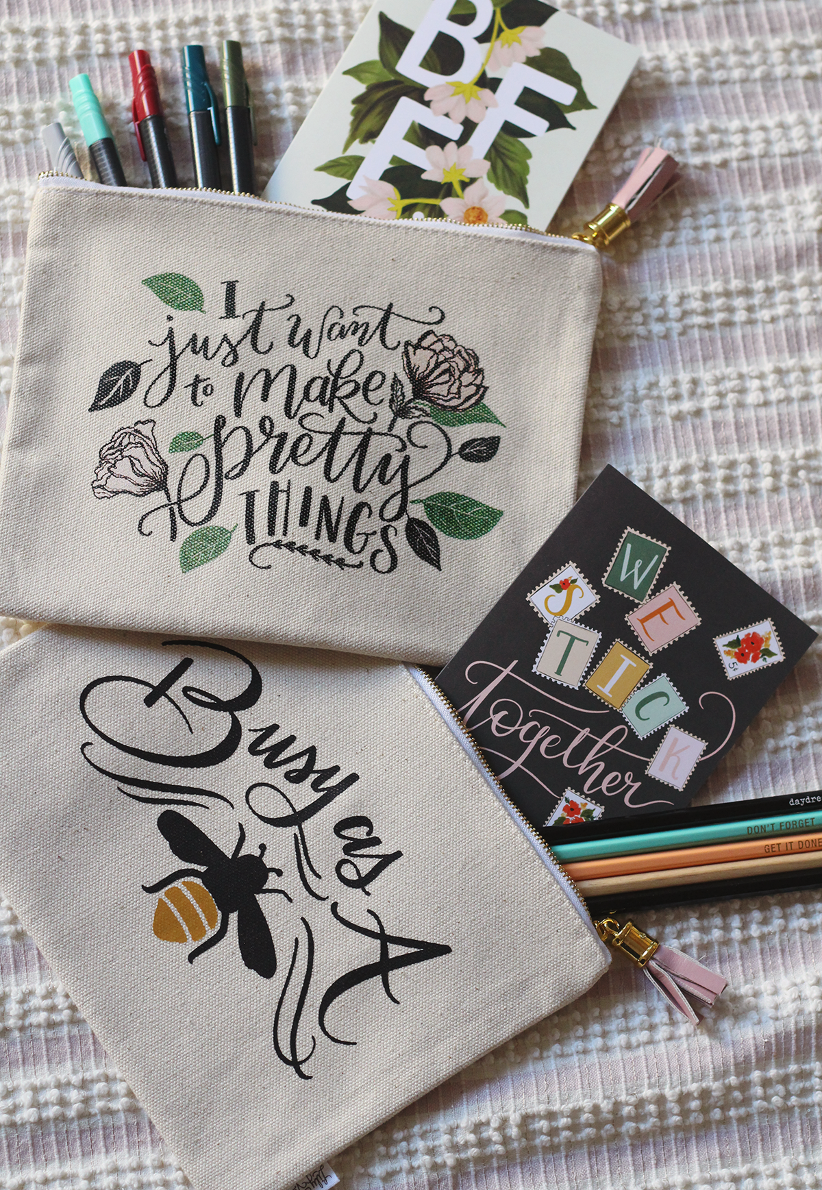 Beautiful new Canvas Pouches for everyone!