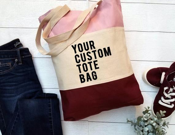 Your 4 favorite things custom tote bag.