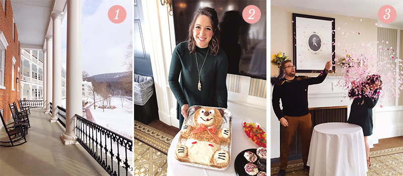 Lily & Val Presents: Pretty Ordinary Friday #102 with Bedford Springs view, teddy bear cake and gender reveal parties