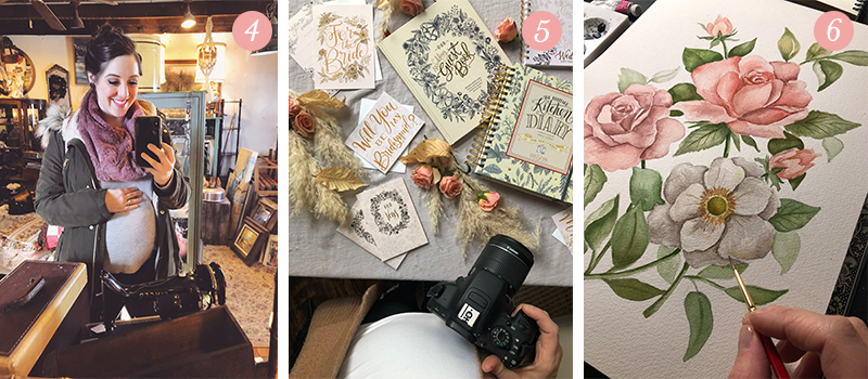 Lily & Val Presents: Pretty Ordinary Friday #102 with antiquing, photo shoots and floral watercolor