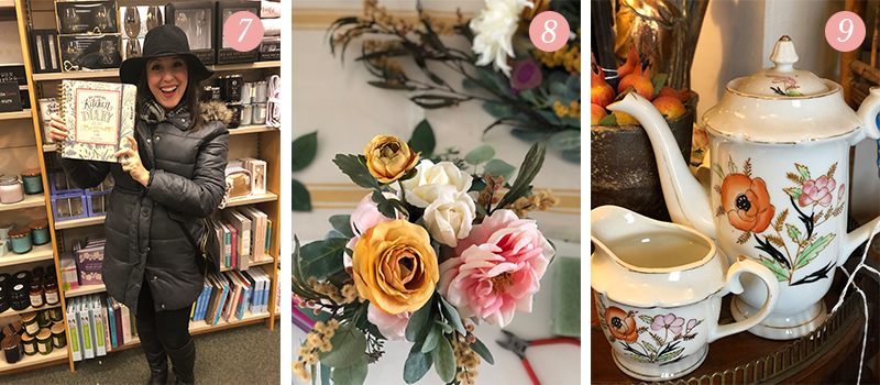 Lily & Val Presents: Pretty Ordinary Friday #102 with Newlywed Keepsake Kitchen Diary at Barnes & Noble, Spring floral inspiration and floral tea pots