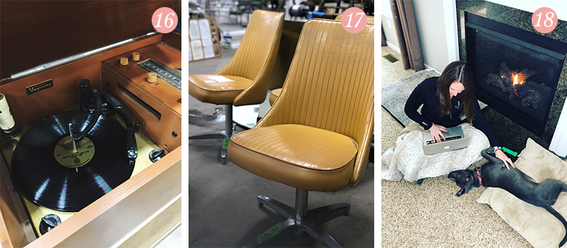 Lily & Val Presents: Pretty Ordinary Friday #102 with restored record players, vintage prop chairs and work at home life