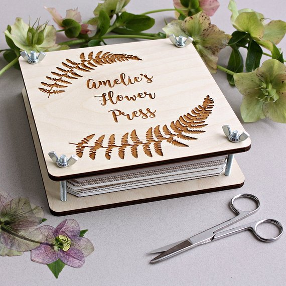 personalized flower press