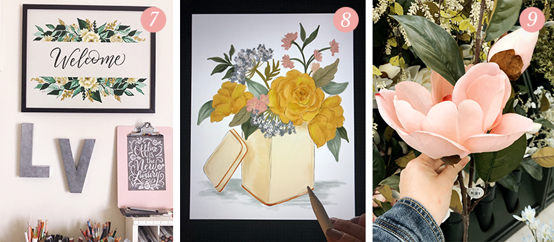 Lily & Val Presents: Pretty Ordinary Friday #103 with Spring desk refreshes, Spring floral inspiration and beautiful faux magnolia blooms
