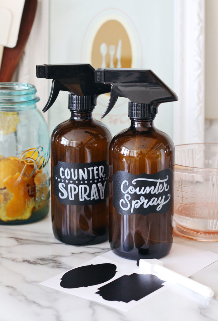 DIY Homemade Nontoxic Counter Spray Cleaner