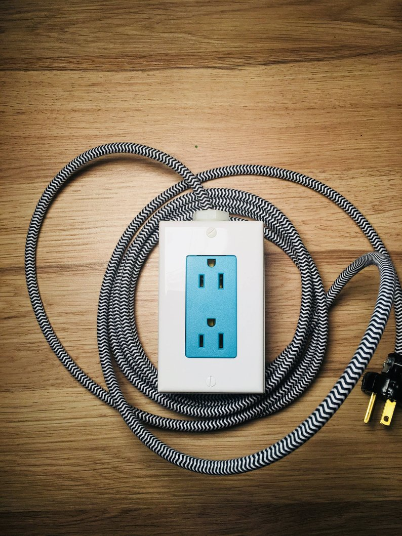 Everyone could use extra power...and this cute extension cord/power station makes a great grad gift!
