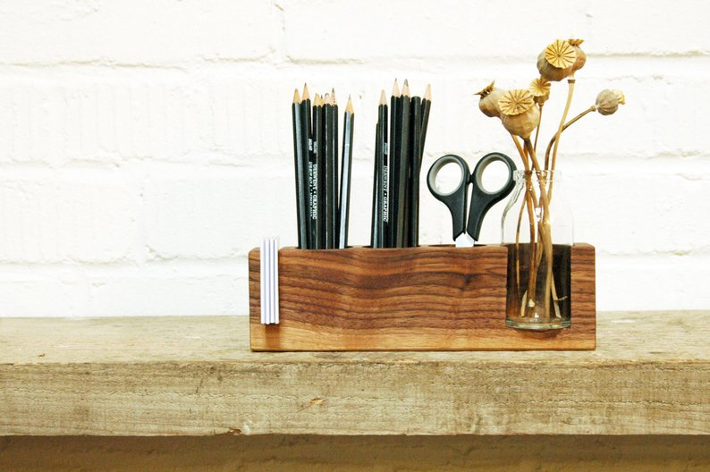 Wooden Desk Organizer is perfect for any grad, male or female, for when they get their first official job.