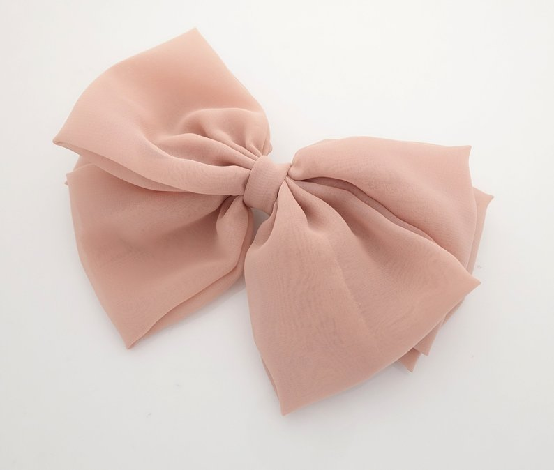Chiffon Hair bow for big girls!