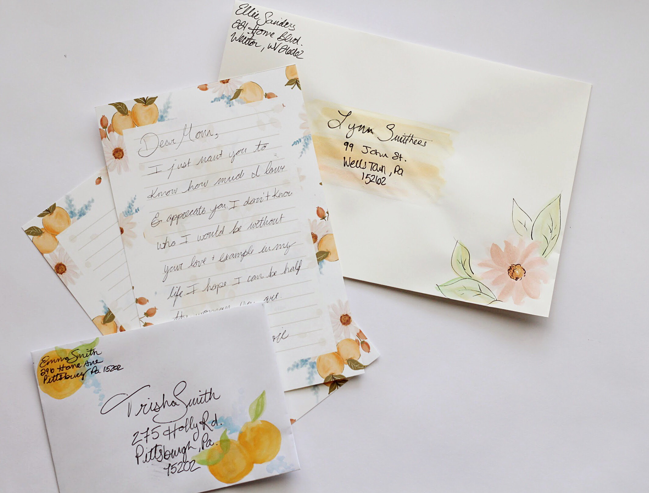 DIY Envelope decorating and stationery sheets