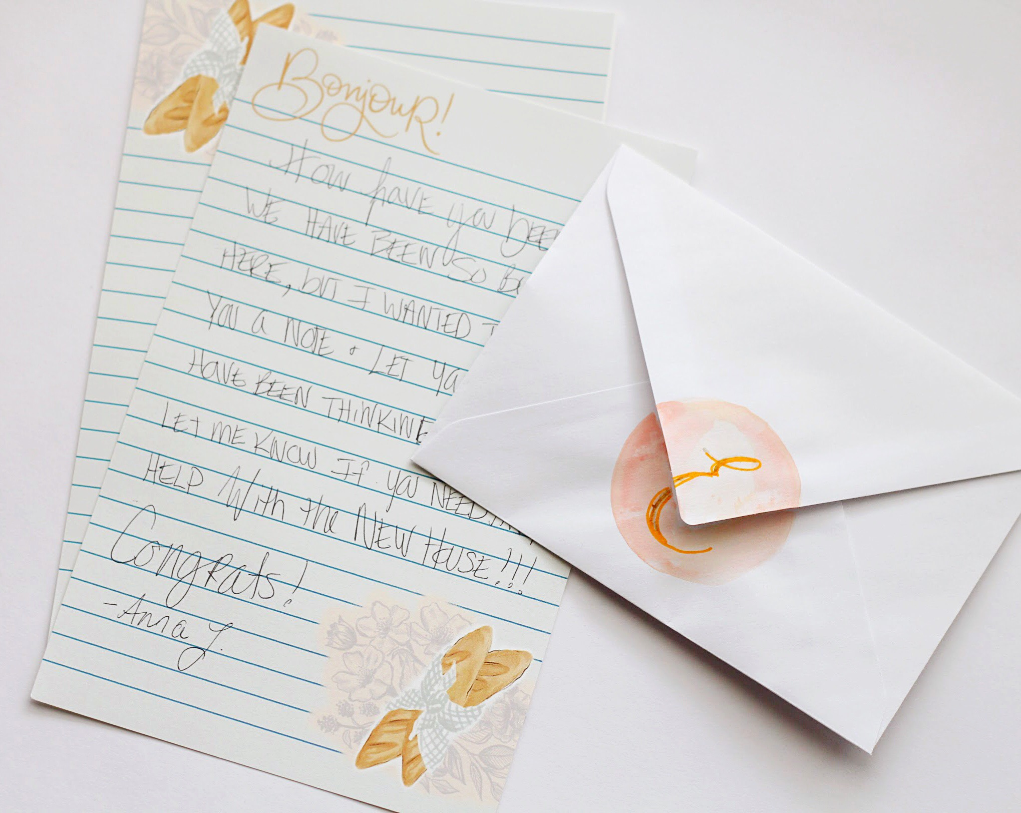 Faux seal envelope decorating