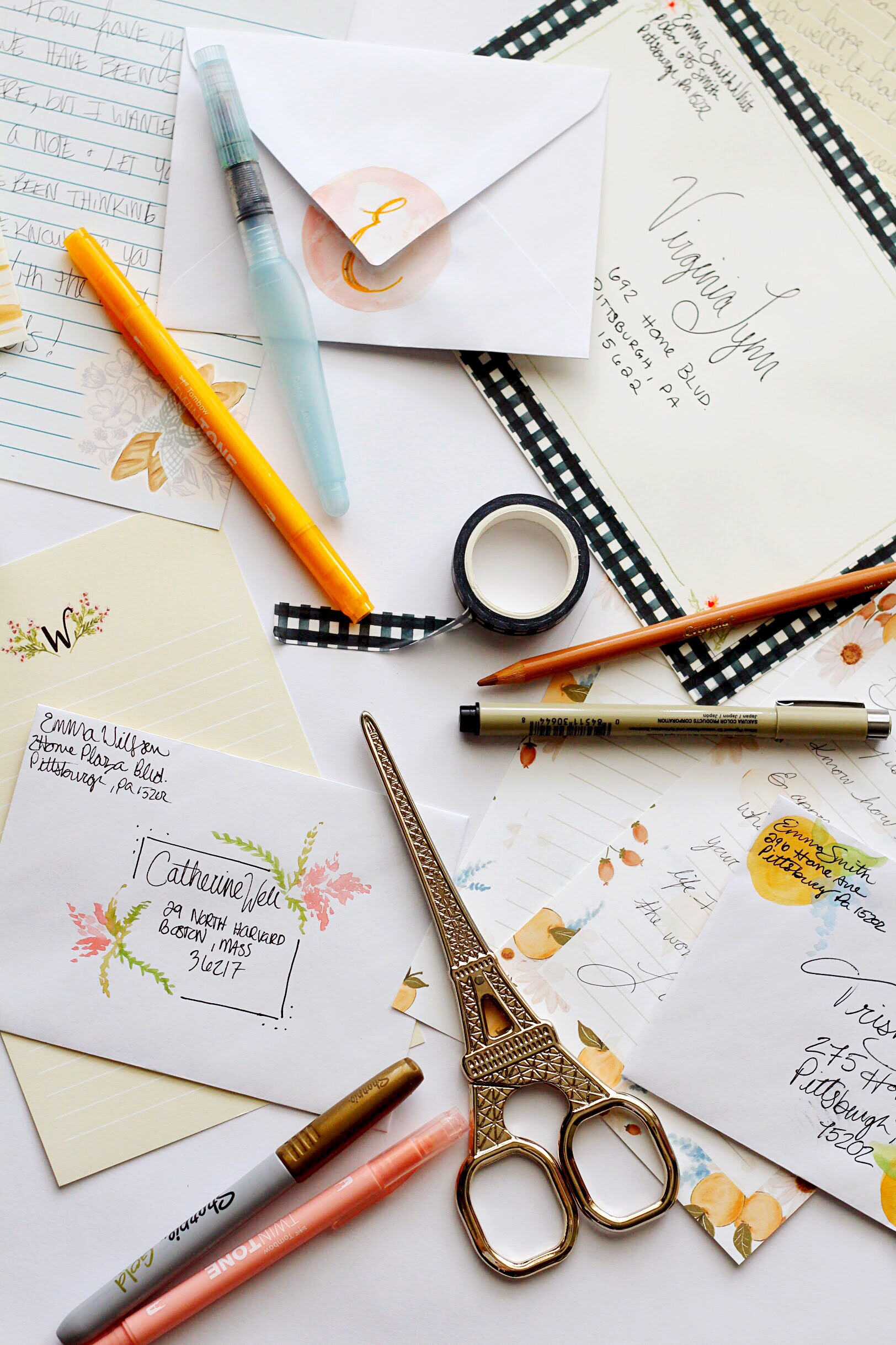 Diy Envelope Decorating inspired by our printable Stationery Sheets