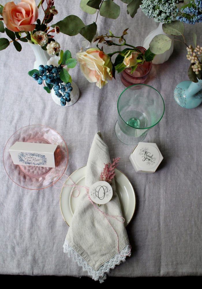Mother's Day Table Using Wedding Printables