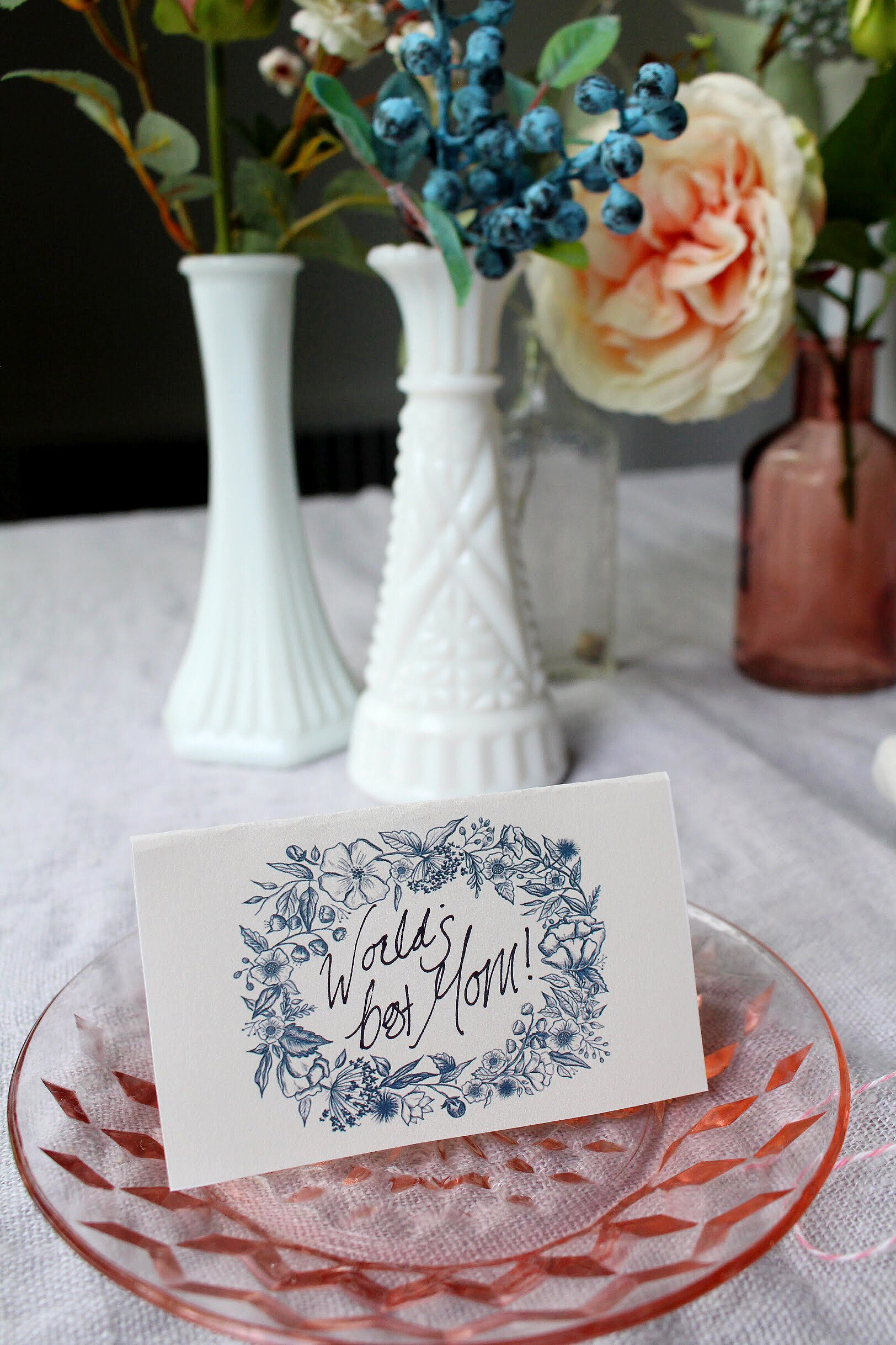 Using Wedding Downloads for Your Mother's Day Table Decor