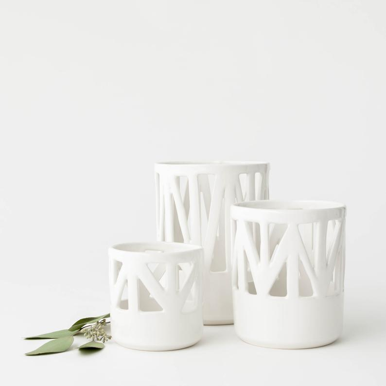 Handmade Porcelain Votives gorgeous for any tablescape