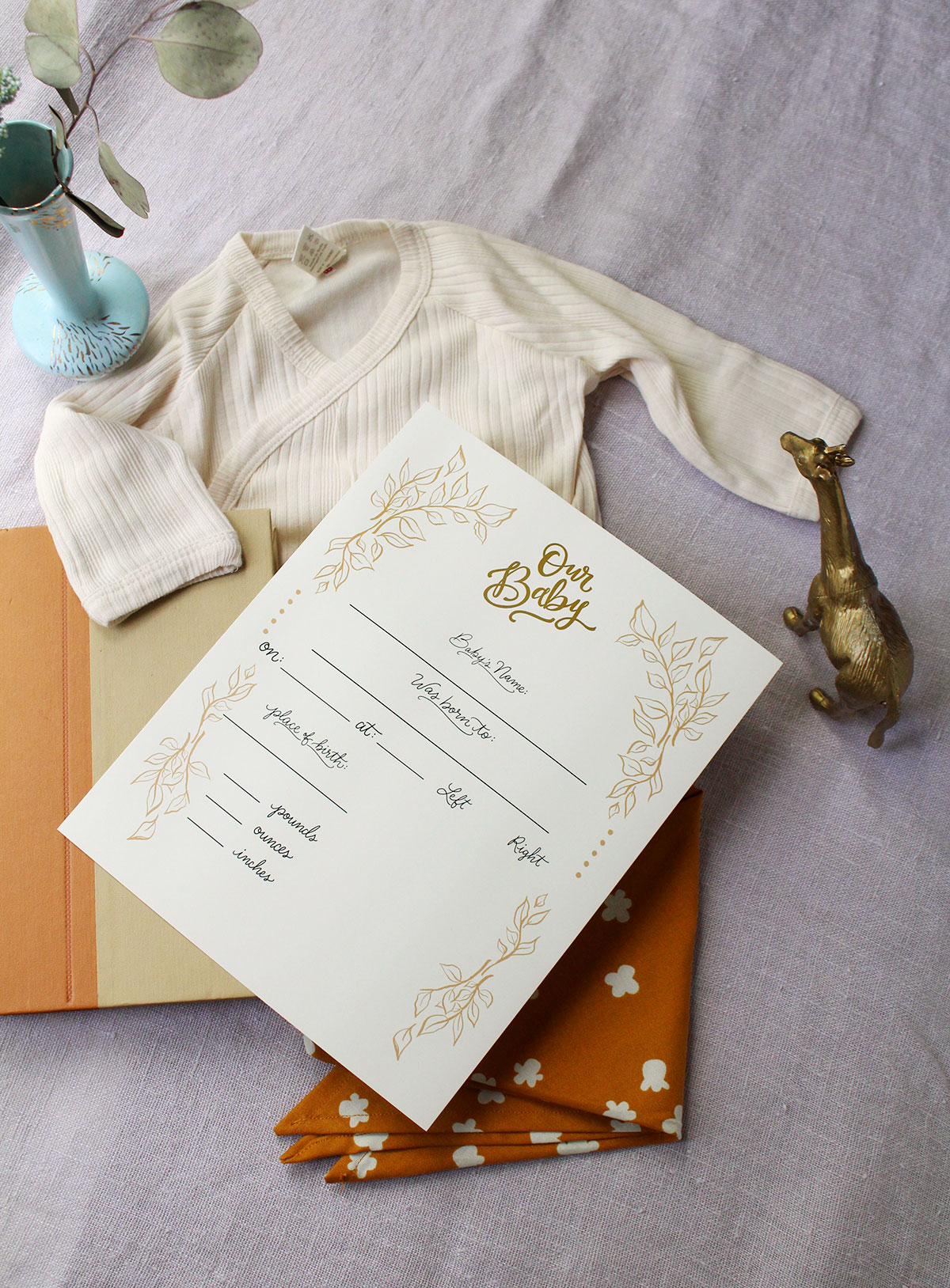 Fill in the blank birth stat prints are a cute way to create a custom piece of nursery art and a family heirloom