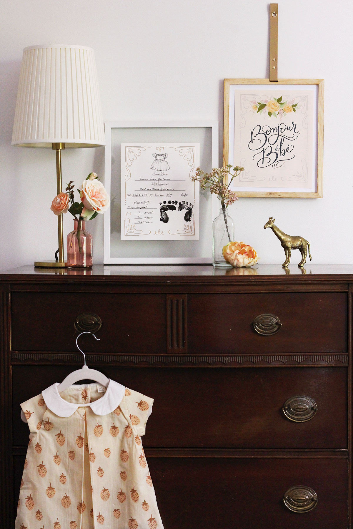 Nursery Wall Art inspiration using new Lily & Val Baby Print & canvas collection