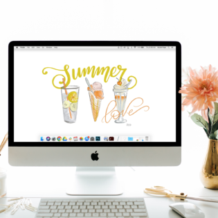 "July's ""Summer Love"" FREE Desktop Download"