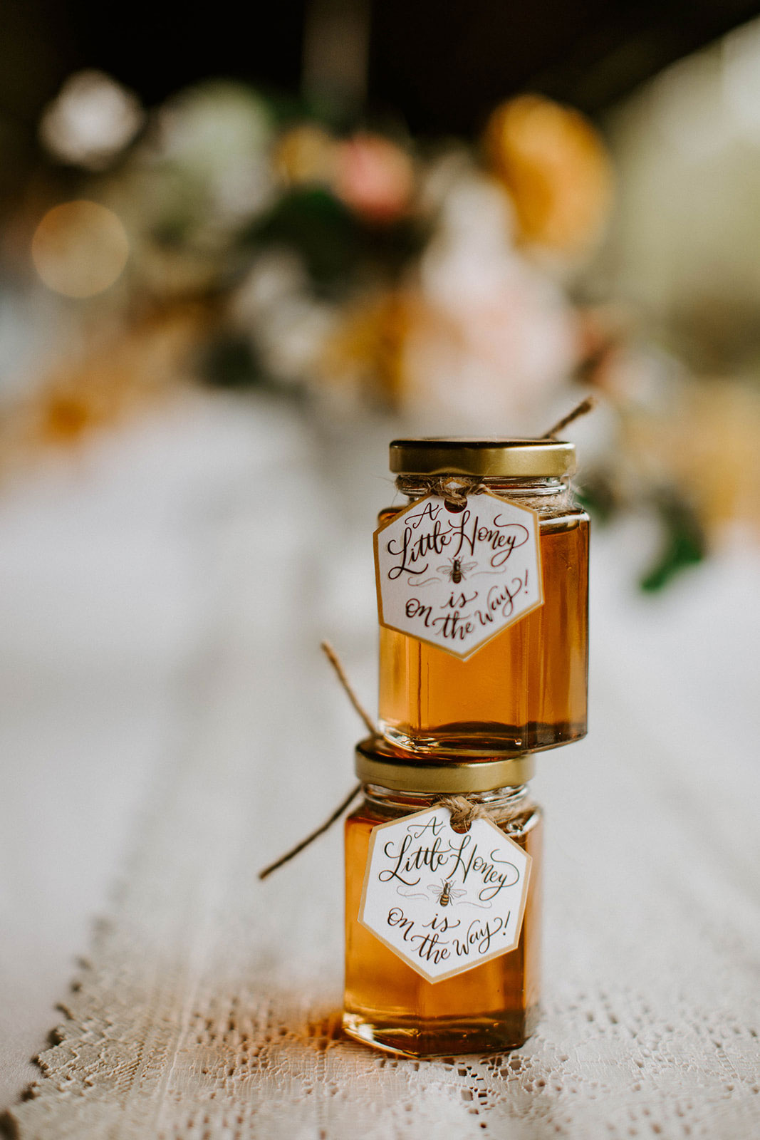 honey jar favors for a honey themed baby shower