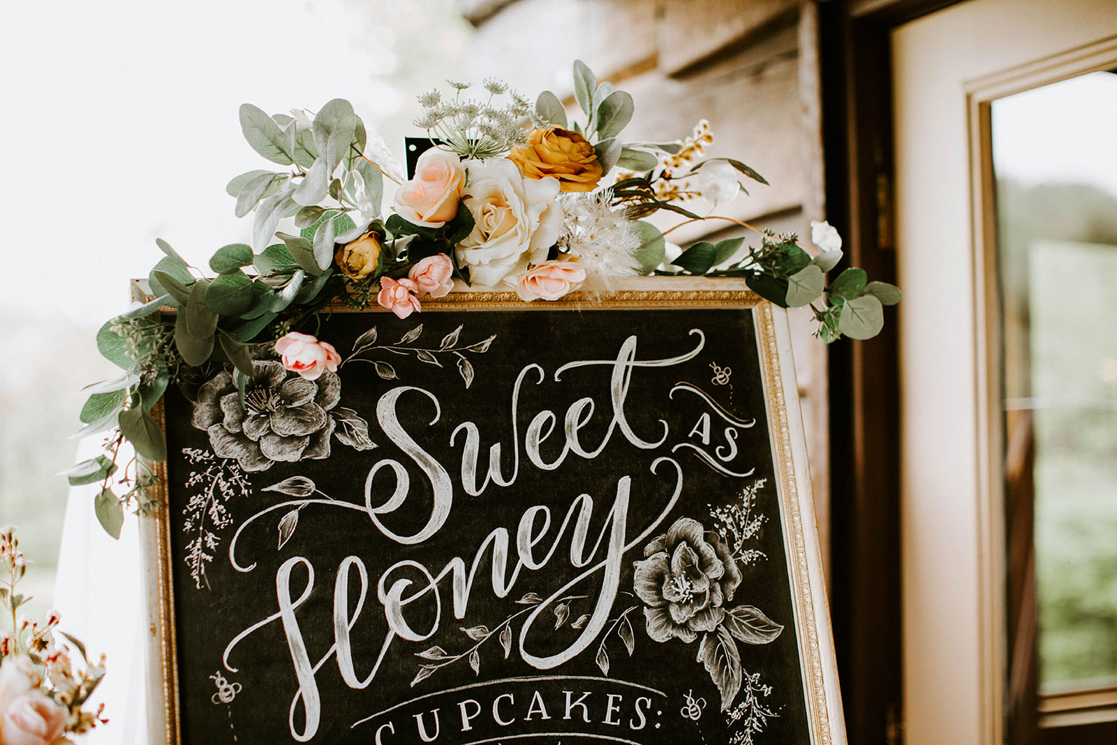 Chalkboard sign by Valerie McKeehan of Lily & Val from a honey themed baby shower