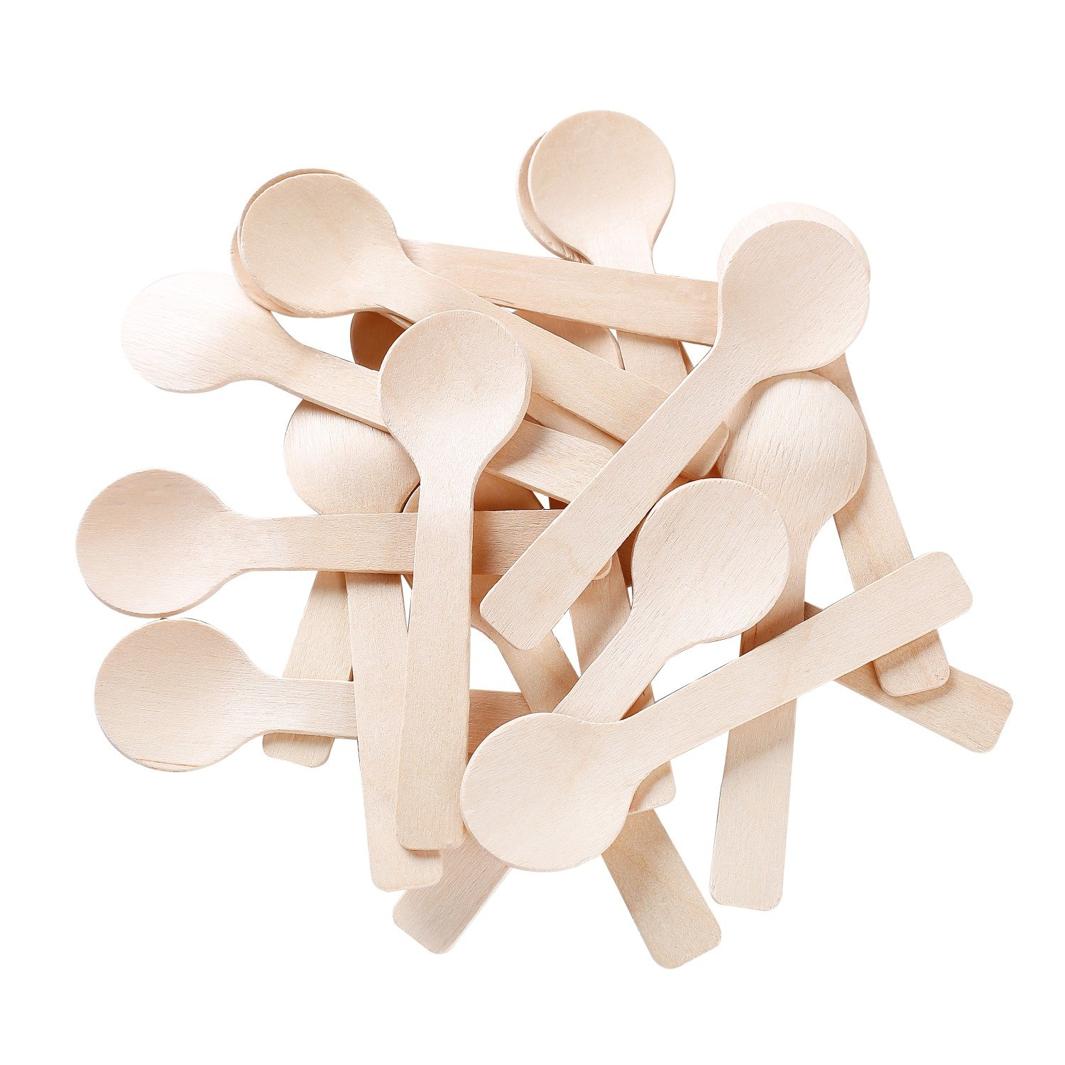 mini wooden spoons perfect for icecream