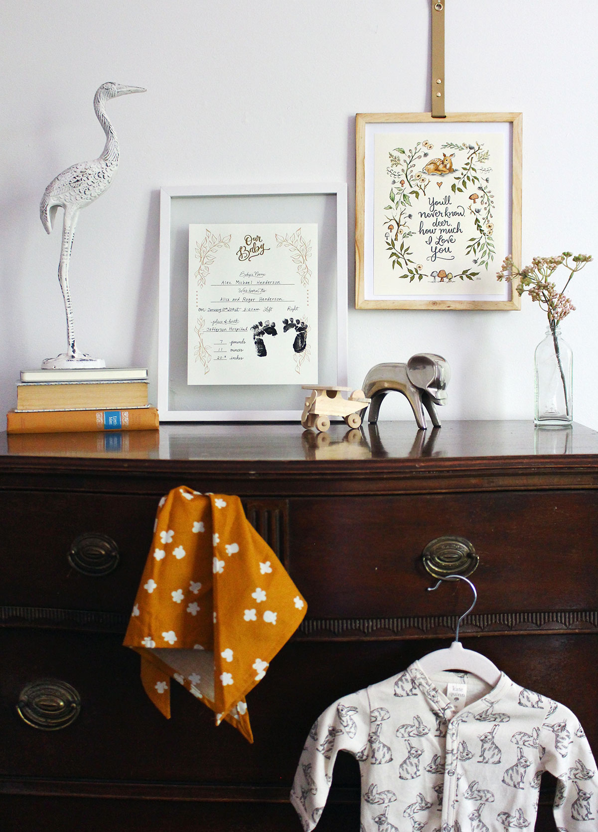 Introducing the Baby Print & Canvas Collection - hand drawn and hand lettered nursery art prints
