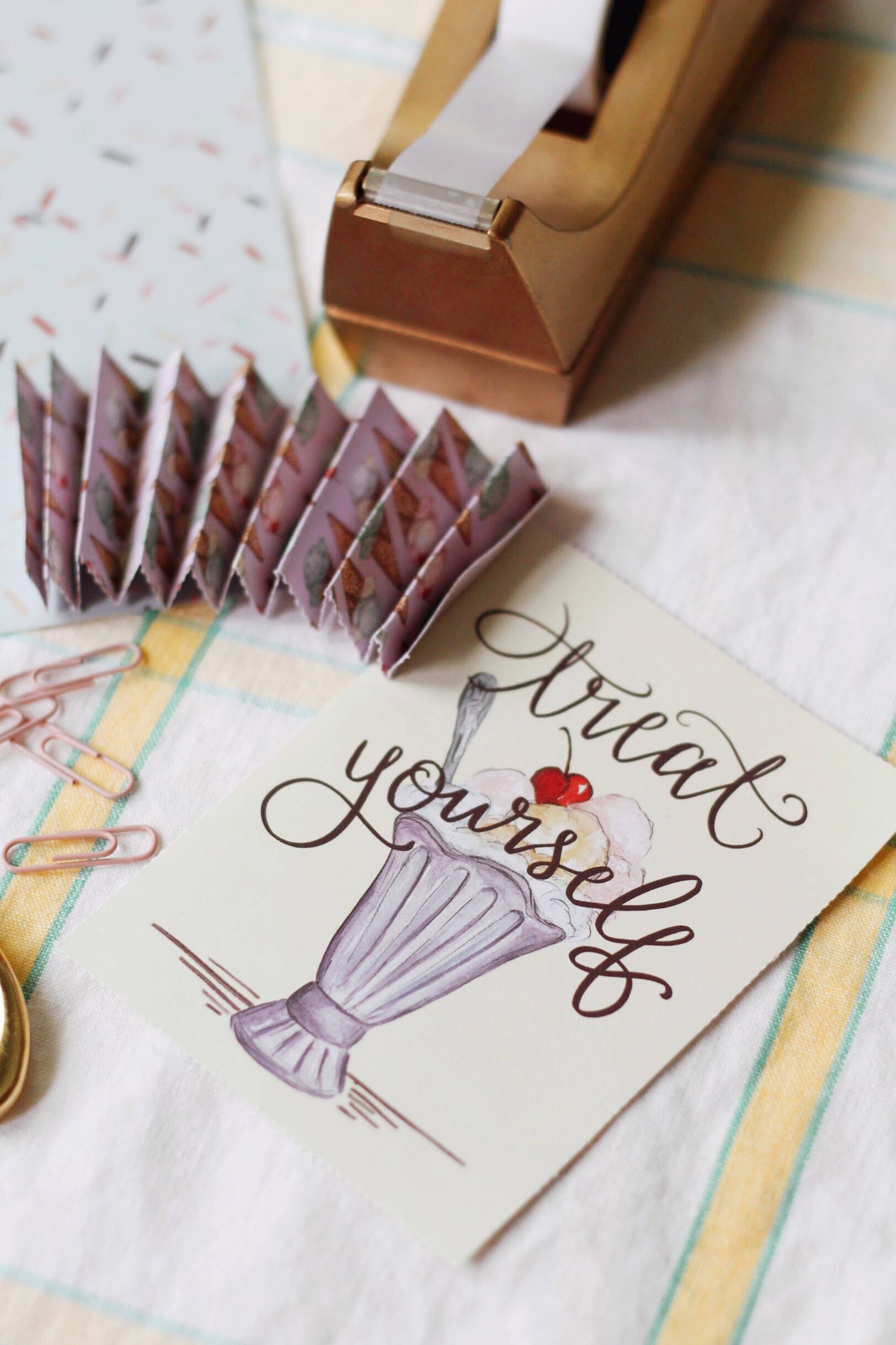 DIY Ice Cream Party Decor- The Art of Paper Crafting Book