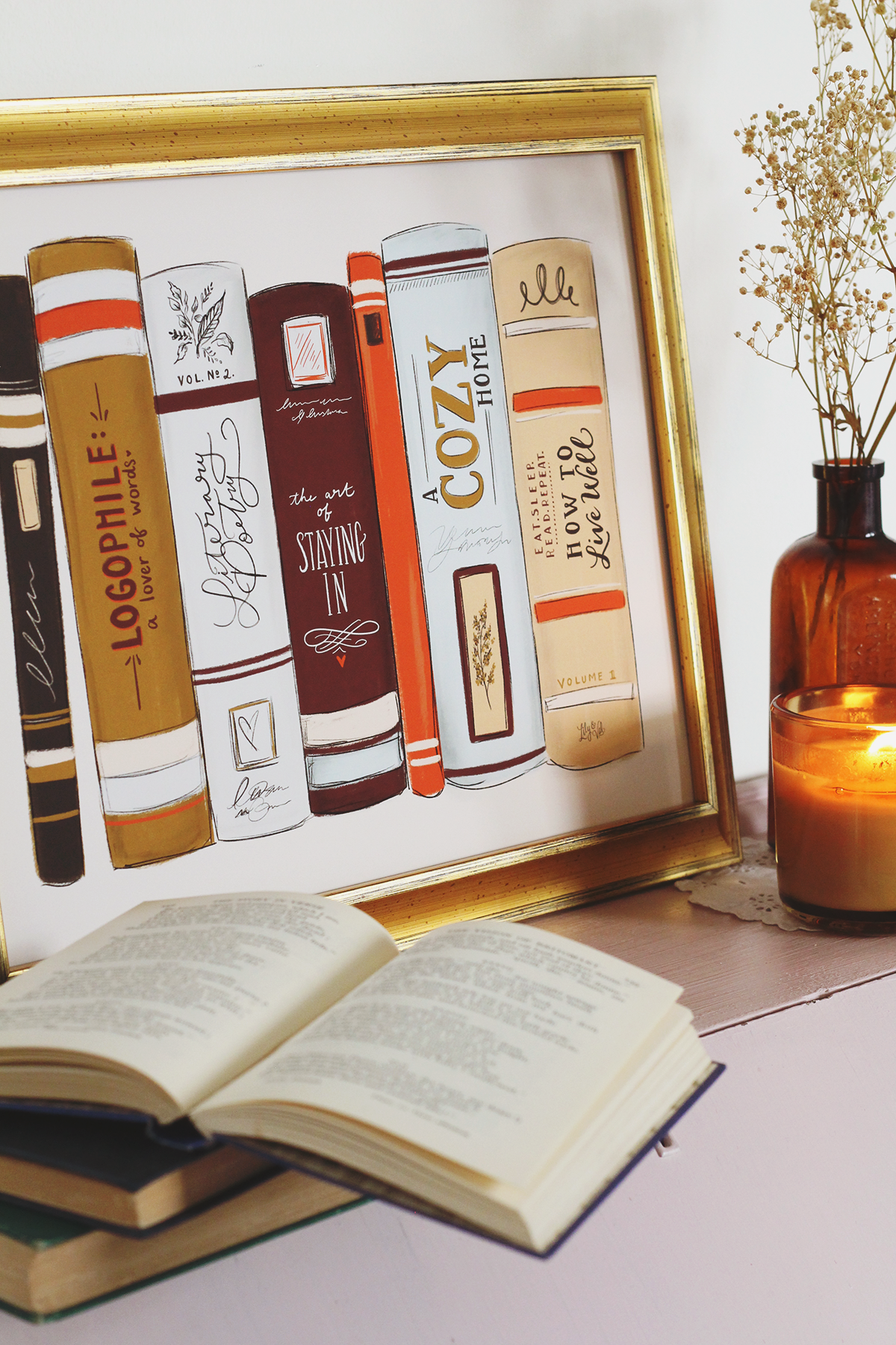 Book Spine Art Print