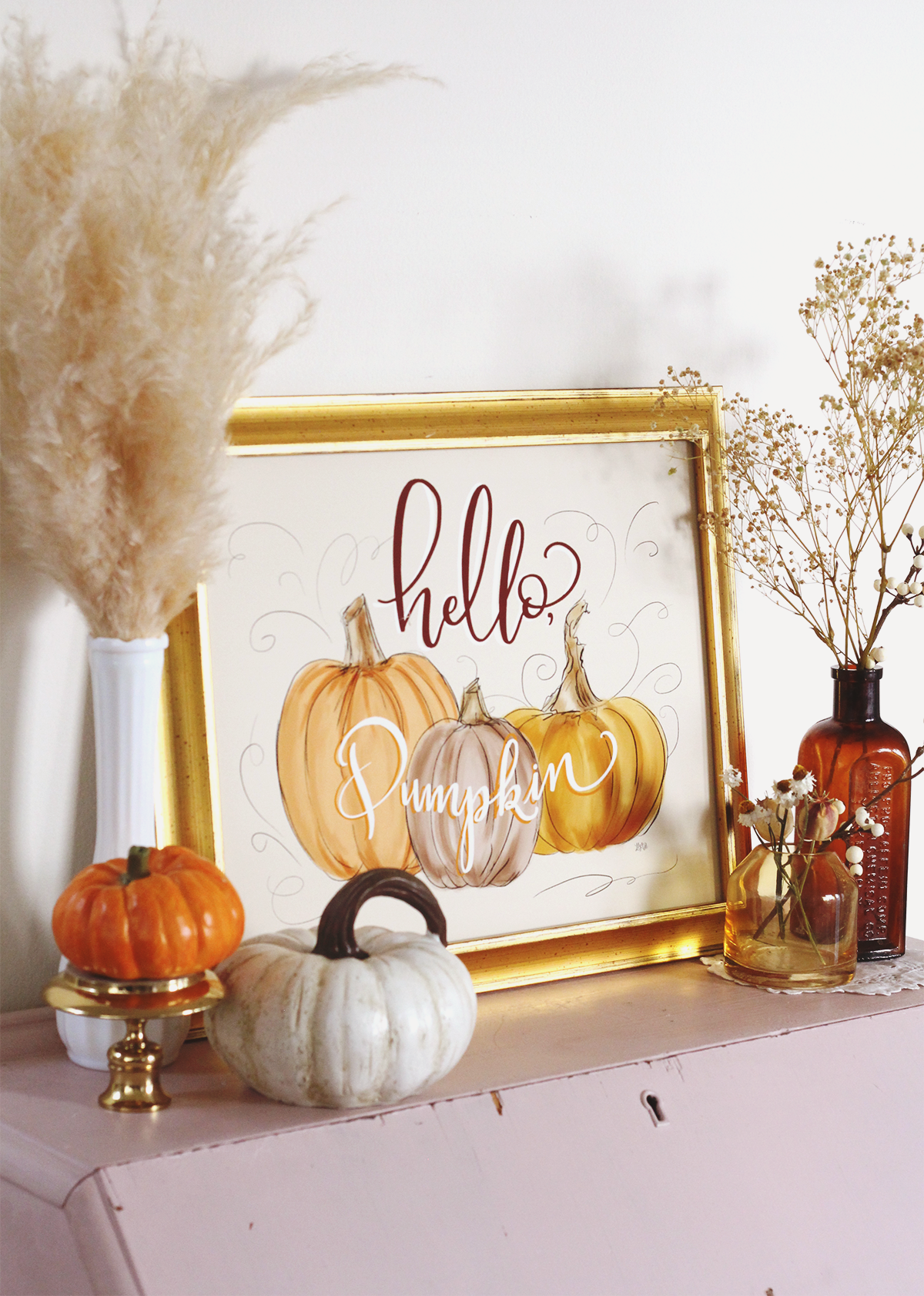 Hello Pumpkin Fall Wall Art