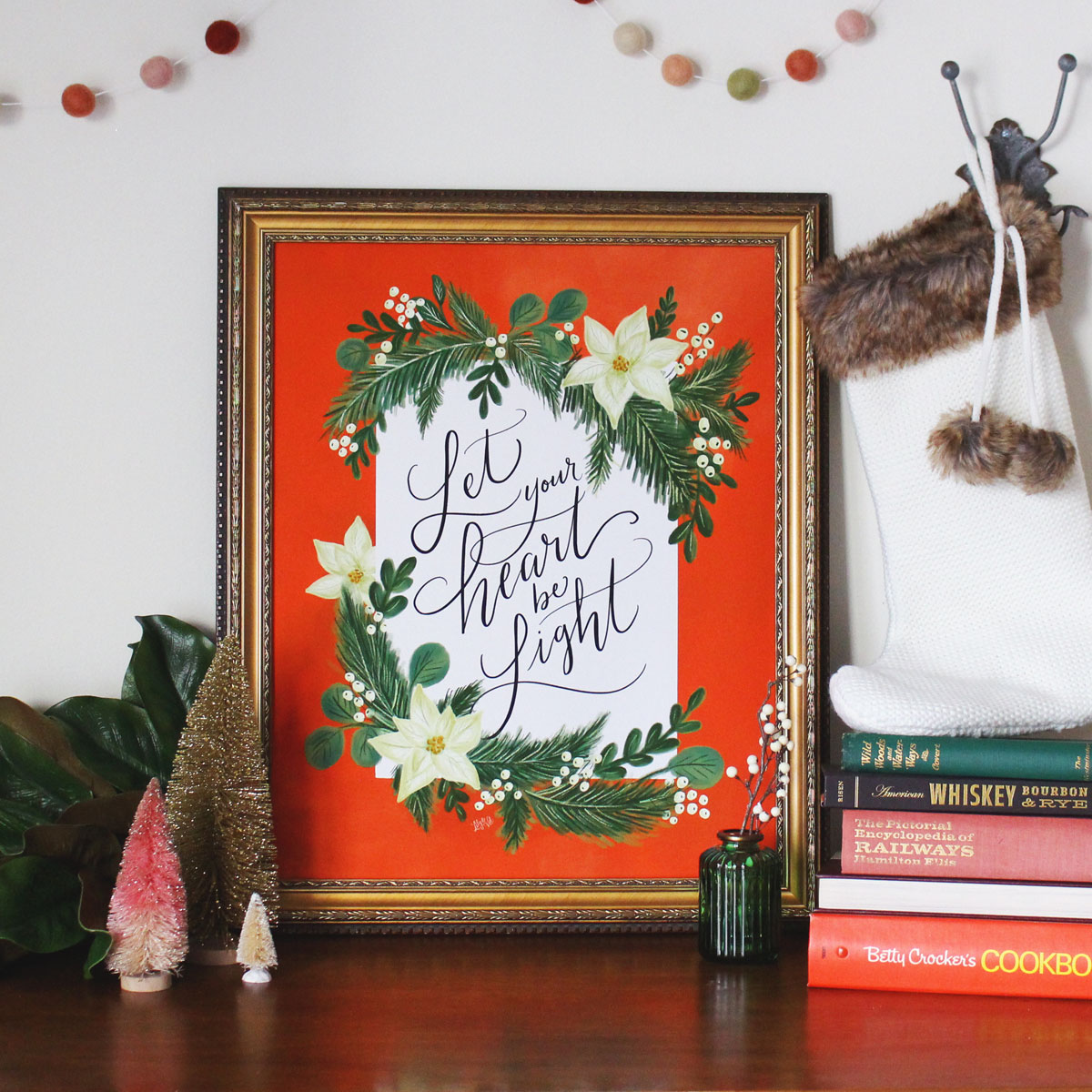 A mid-century modern holiday collection of hand-drawn prints & cards from Lily & Val