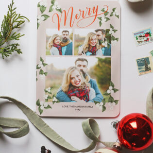 Lily & Val For Mixbook Custom Holiday Photo Cards