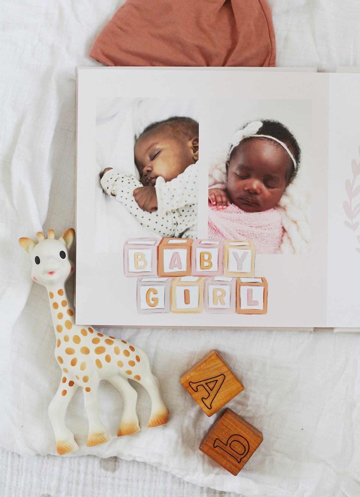 Lily & Val for Mixbook Custom Photo Baby Book - Woodland Baby Girl Photo Book