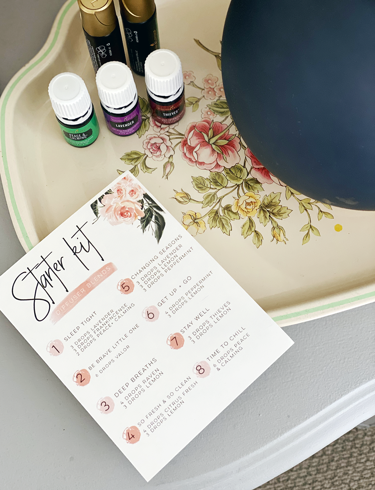 Diffuser blends using a Young Living Starter Kit