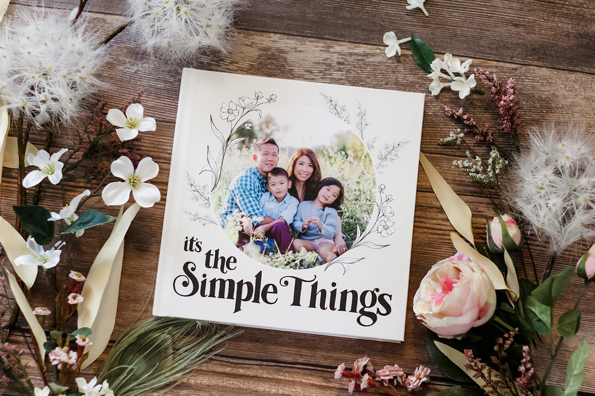 "Lily & Val for Mixbook -Everyday Custom Photo Book ""It's The Simple Things"""