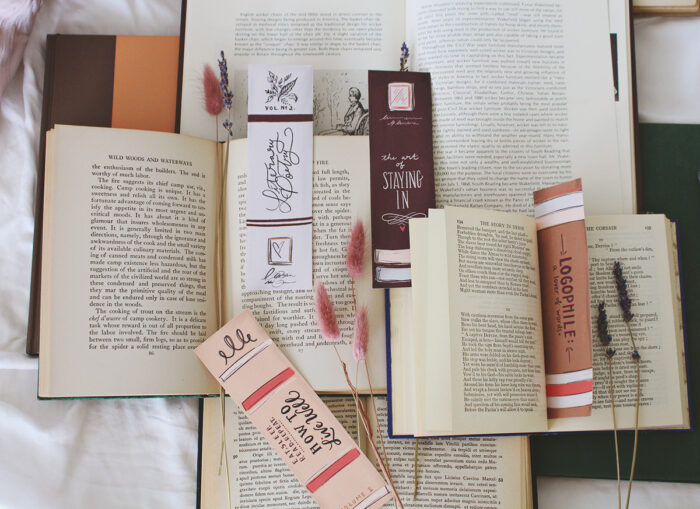 Book Spine Bookmarks - A Free Digital Download
